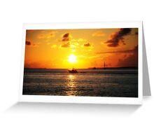 Sunset hounds II Greeting Card