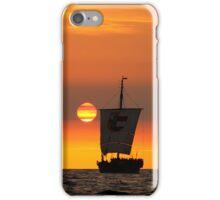 Sunset sailing iPhone Case/Skin
