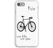Fixie - one bike one gear iPhone Case/Skin
