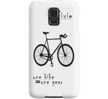 Fixie - one bike one gear Samsung Galaxy Case/Skin