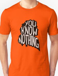 You know nothing, Game of Thrones T-Shirt