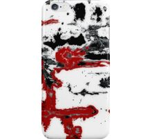 Black White Red Allover  III iPhone Case/Skin