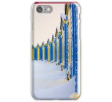 Beach Huts In The Snow - iPhone Case iPhone Case/Skin