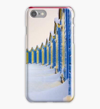 Beach Huts In The Snow - iPhone Case iPhone Case/Skin