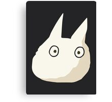 Small White Totoro - No Outline Canvas Print