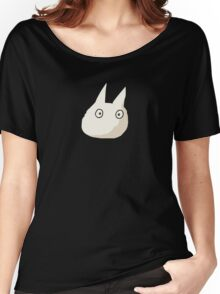 Small White Totoro - No Outline Women's Relaxed Fit T-Shirt