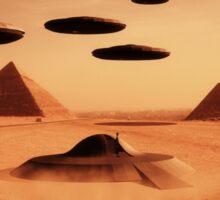 Ancient Aliens by Raphael Terra Sticker