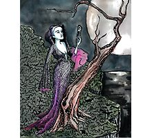 Vampire on a cliff Photographic Print