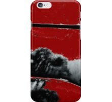 Black White Red Allover  V iPhone Case/Skin