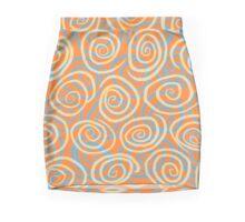 Spiral Burst (Orange) Mini Skirt