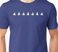 Small White Totoro Walking Unisex T-Shirt