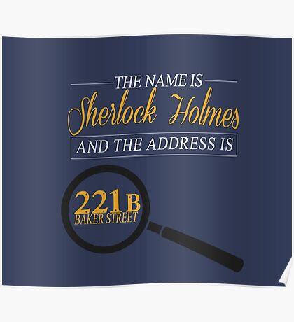 221B Baker Street Poster