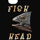 Fish Head iPhone Case by simpsonvisuals