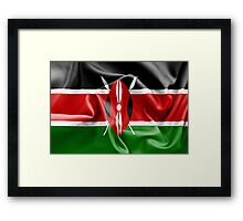 Kenya Flag Framed Print