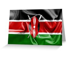 Kenya Flag Greeting Card