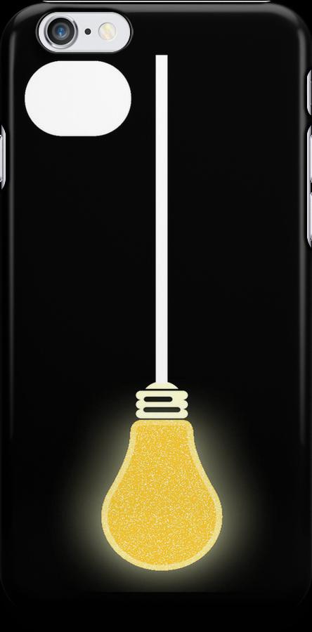 Lightbulb iPhone Case by simpsonvisuals