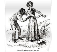 Achille Sirouy Mark Twain Les Aventures de Huck Huckleberry Finn illustration p072 Poster