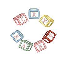 Cry Baby Alphabet Blocks Photographic Print