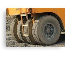 Wheels on Construction Equipment Canvas Print