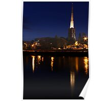 Towering in to the night sky Poster
