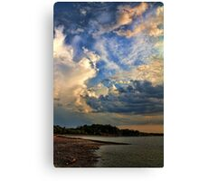 A Cloudy Evening Canvas Print