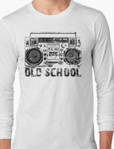 Old School Boombox Art Long Sleeve T-Shirt