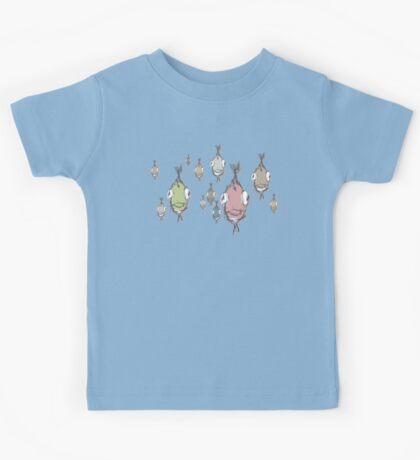 Bench of Fish T-Shirt Kids Tee