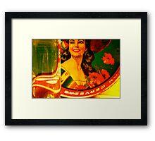 the visions of la margarita Framed Print