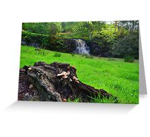 Yorkshire: The Fungi & The Waterfall Greeting Card