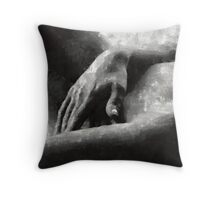The Hand by Mary Bassett Throw Pillow