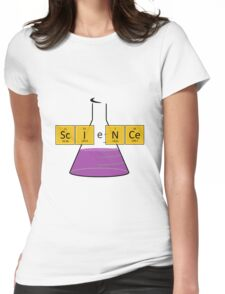 ScIeNCe with a conical flask Womens Fitted T-Shirt