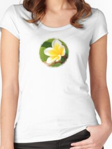 Plumeria  - JUSTART ©  Women's Fitted Scoop T-Shirt