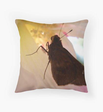 SKIPPER IN CONFEDERATE ROSE Throw Pillow