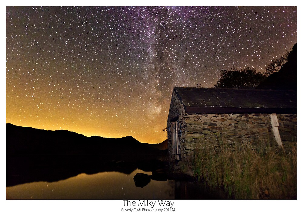 Milky Way over the old boathouse by Beverly Cash