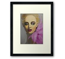 BEAUTIFUL AND ELEGANT LADY Framed Print