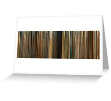 Moviebarcode: The Darjeeling Limited (2007) Greeting Card