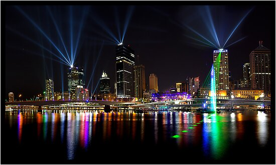 Brisbane 17 Sep 2011  Lazer Lights  21 by John Van-Den-Broeke