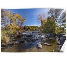 Waterfalls in fall Poster