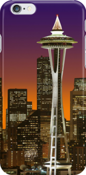 The Glow Of Seattle iPhone case. by Todd Rollins