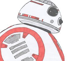 BB-8 drawing by Sam Whitelaw