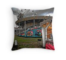 All Quiet OnThe Midway - Storm Approaching Throw Pillow
