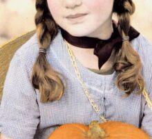 Girl with Pumpkin Sticker