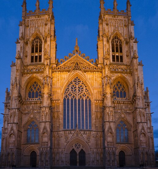 York Minster, England, at sunset by GrahamCSmith