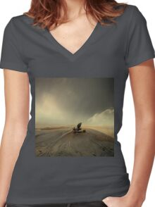 THE PIANIST Women's Fitted V-Neck T-Shirt