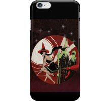 Halloween Witch Flying (vintage) iPhone Case/Skin