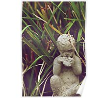 The Pan Flute Player - Music in the Garden Poster
