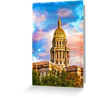 State Capitol at Sunset, Denver Colorado  Greeting Card