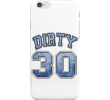 Dirty 30 blue distressed iPhone Case/Skin