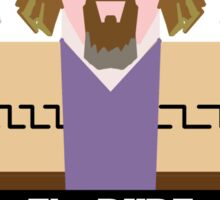 "Jeff ""the Dude"" Lebowski Sticker"