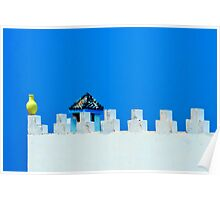 Battlements in Blue Poster